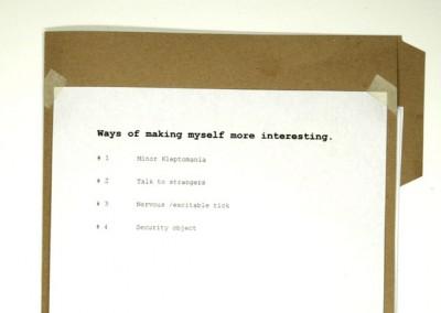 Ways of making myself more interesting